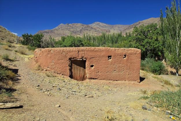 Старая деревня абьянех в иране