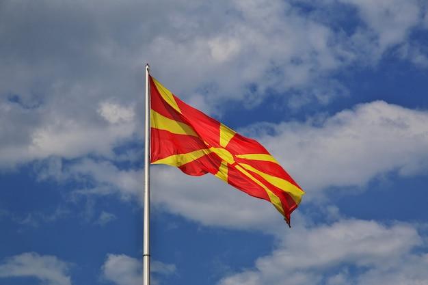 スコピエ、マケドニア、バルカン半島の旗