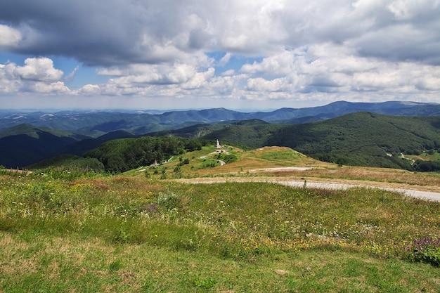Вид на горы перевала шипка, болгария