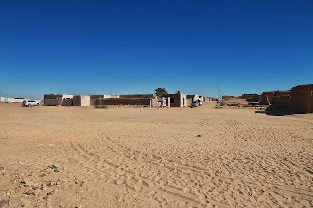 アフリカ、スーダンのカルマの町