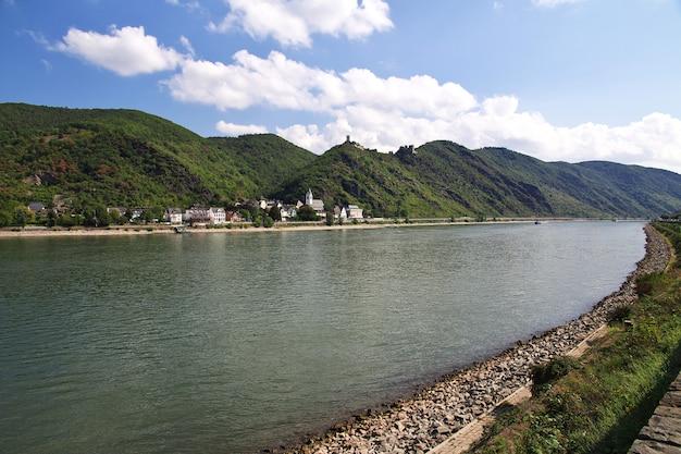 西ドイツのライン渓谷