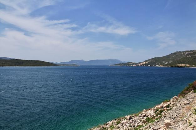 クロアチアのアドリア海の美しい海岸