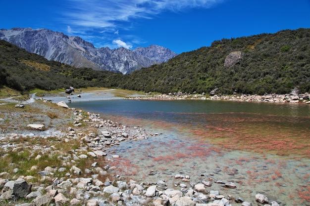 Отслеживание на леднике тасман, новая зеландия