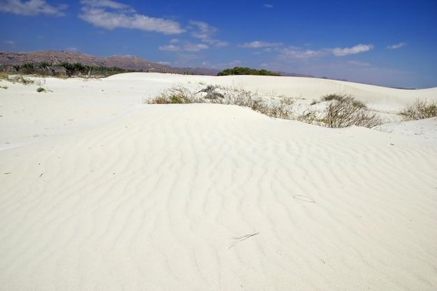 Дюны на побережье индийского океана, остров сокотра, йемен