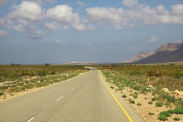 Дорога на остров сокотра, индийский океан, йемен