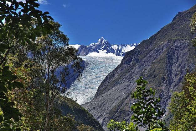ニュージーランドのフォックス氷河へのトレッキング