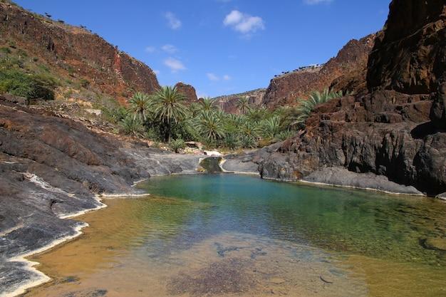 Каньон вади дирхур, остров сокотра, индийский океан, йемен