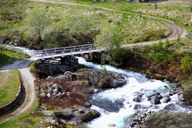 Деревня флам в горах норвегии