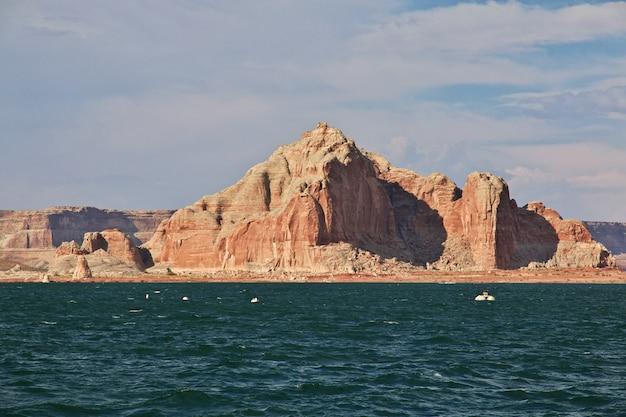 米国アリゾナ州のパウエル湖