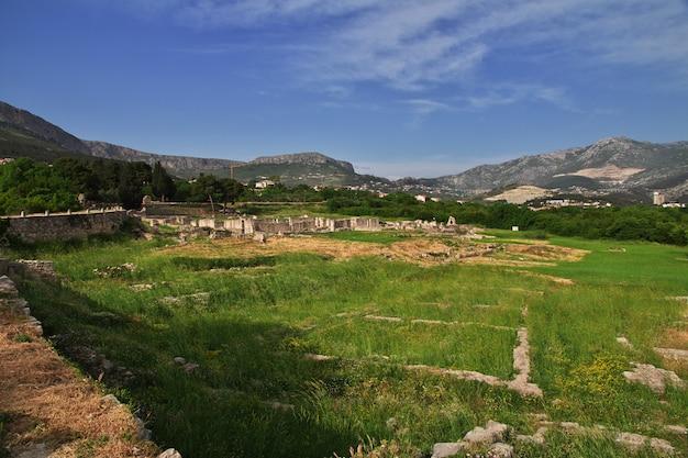 クロアチア、スプリトのダルマチアの古代ローマの首都、サロナの遺跡