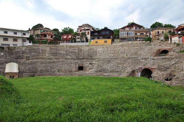 アルバニア、ドュレスのローマ時代の遺跡