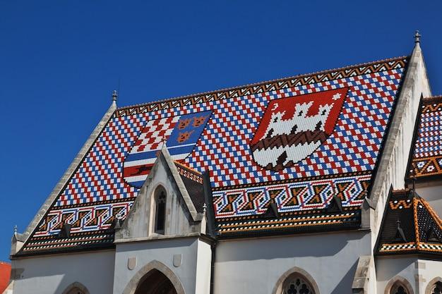 Церковь св. марка, црква св. марка в загребе, хорватия