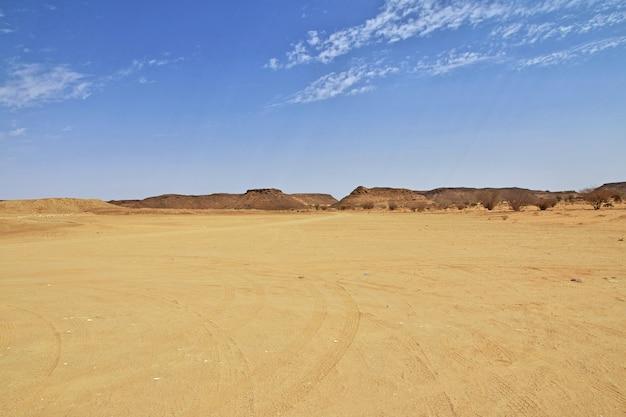 スーダンのサハラ砂漠