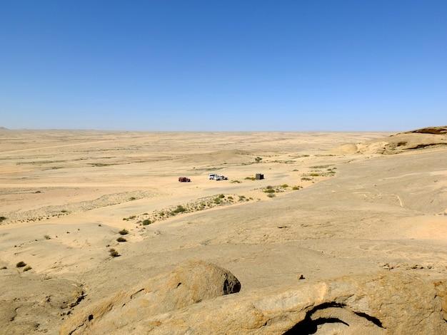 ナミビア、ウィントフックの砂漠の眺め