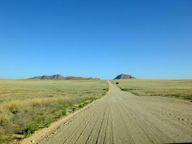 砂漠の道、ウィントフック、ナミビア