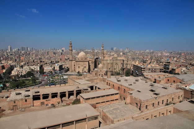 カイロ市内中心部の空撮