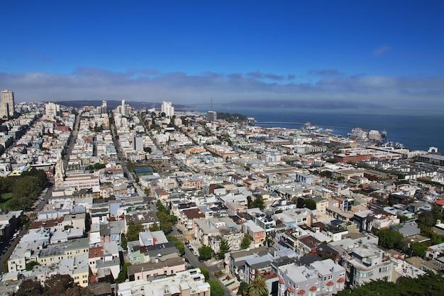 米国西海岸のサンフランシスコの眺め
