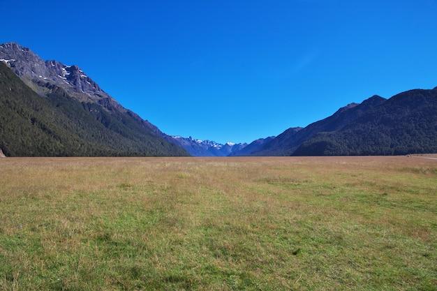 Долина южного острова, новая зеландия