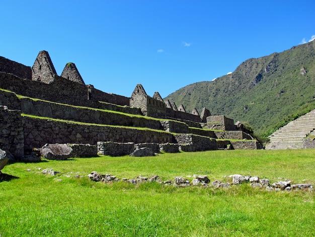Мачу-пикчу - столица империи инков в горах анд, перу, южная америка.