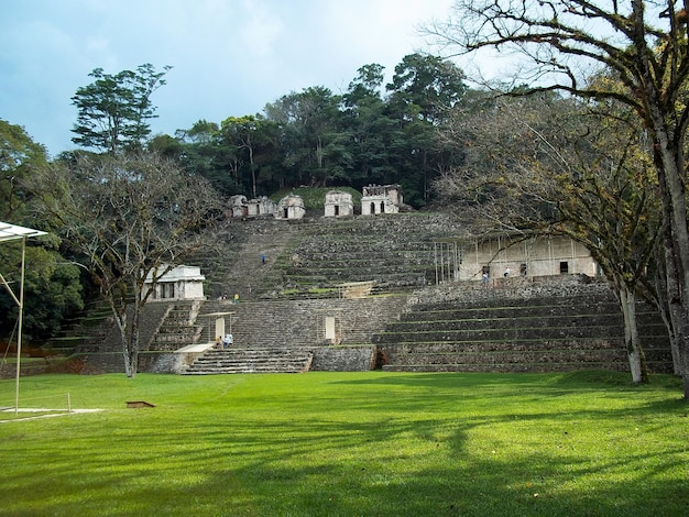 Древние руины майя, бонампак, мексика