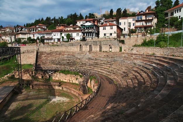 マケドニア、オーキッドシティのローマの円形劇場