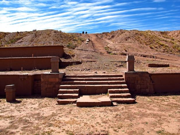 Руины тиуанако в боливии, южной америке