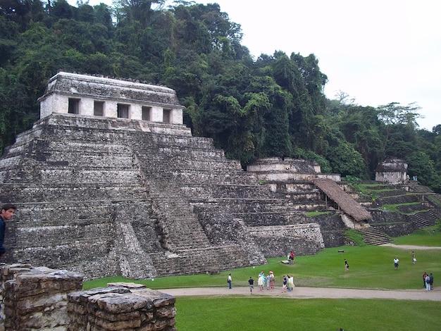 Древние руины майя, паленке, мексика