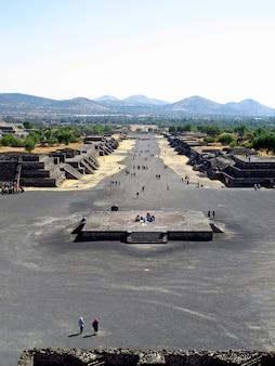 Древние руины ацтеков, теотиуакан, мексика