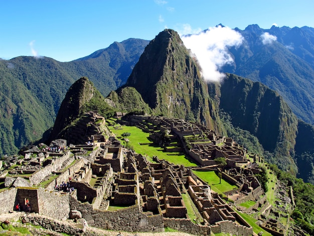 マチュピチュは南米ペルーのアンデス山脈のインカ帝国の首都です