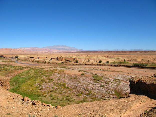モロッコワルザザートのサハラ砂漠
