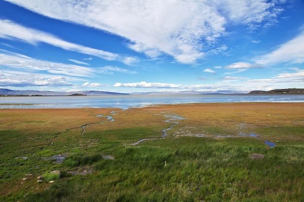 アルゼンチン、パタゴニア、エルカラファテのアルゼンチン湖