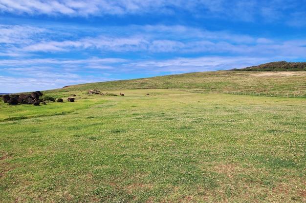 Парк аху винапу на острове пасхи, чили
