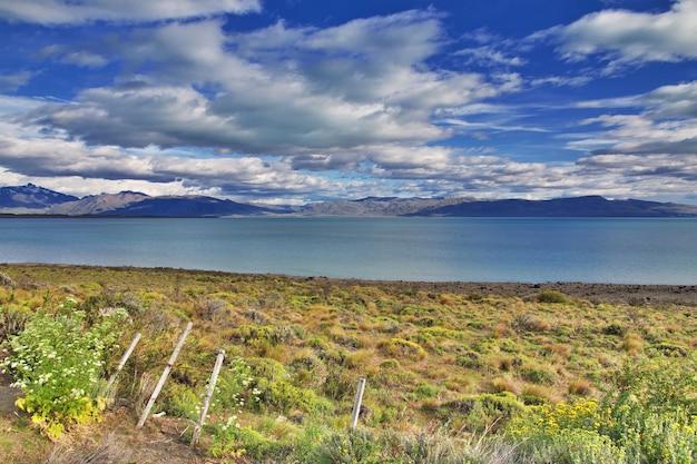 Лаго аргентинское озеро в эль-калафате, патагония, аргентина