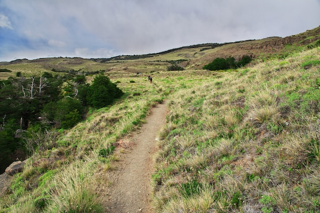 Поход по национальному парку лос глейшер фитц рой, эль чальтен, патагония, аргентина