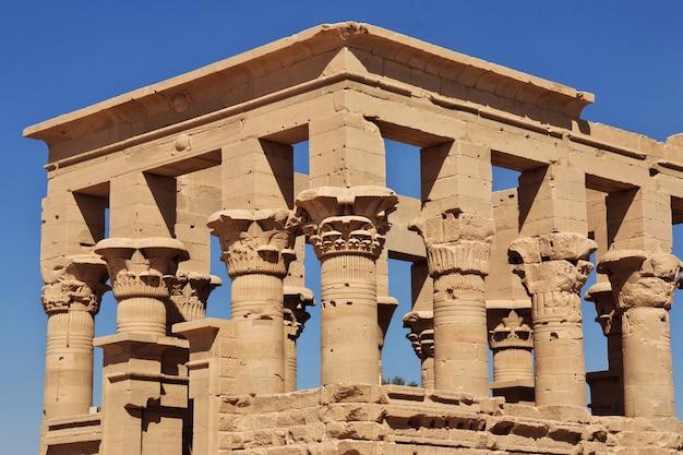 エジプト、フィラエ島のイシス神殿