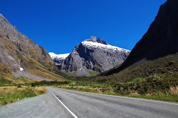 ニュージーランド南島の山