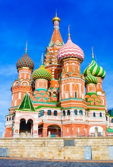 モスクワで最も有名な場所、聖ワシリイ大聖堂、ロシア