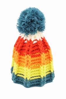 カラフルな冬のニット帽子