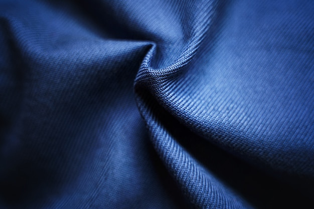 Синяя текстура витой ткани