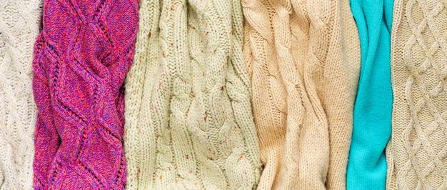ニットセーターの背景