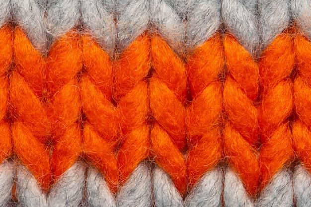 Красочный вязать свитер текстуры макрос. пустой экземпляр космический фон с насыщенным свитер.