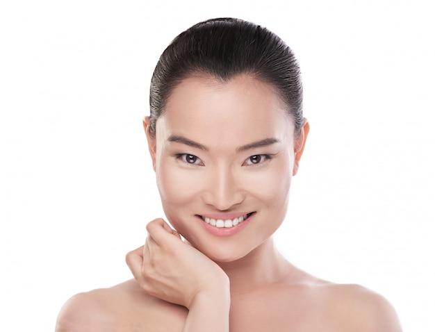 Азиатская красота. концепция здравоохранения