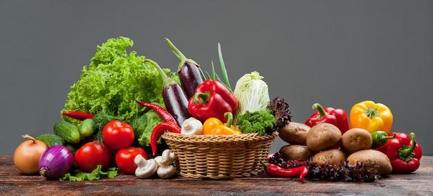 健康的でおいしい果物と野菜