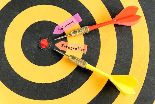 Интеграция рукописного решения на фоне дартсборда