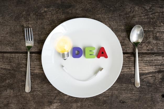 笑顔で輝く大きな電球のアイデア
