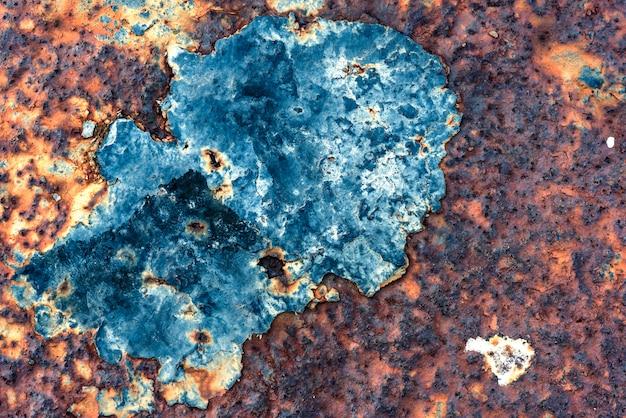 錆びた金属がテクスチャを腐食