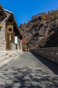 Древние дома пригородов; китай