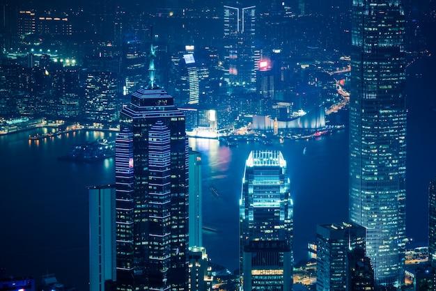 香港のビクトリアハーバー、近代建築