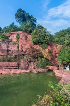 Геопарк в исин, провинция цзянсу китая