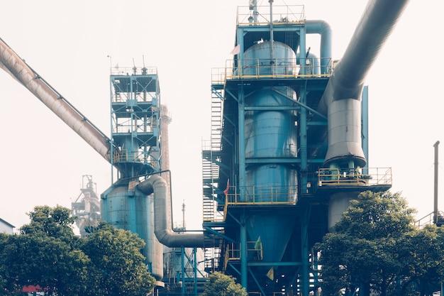 鉄鋼工場の内装